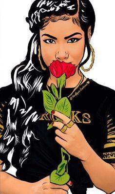 dope art by AstridVluggen on We Heart It Black Girl Art, Black Women Art, Pop Art Girl, African American Art, African Art, Dope Kunst, Fille Gangsta, Dope Cartoons, Dope Cartoon Art