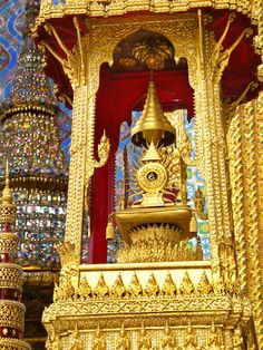 """Wat Phra Kaew"""" Temple of the Emerald Buddha."""" Adjoining the Grand Palace, the temple is the greatest spectacle of Bangkok."""