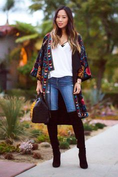 Outfit ideas and ways to wear over-the-knee boots from our favorite street style stars and bloggers like Aimee Song from Song of Style