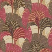 Raspberry Pink / Chocolate - 60579 - Grace - Extravagance - Harlequin Wallpaper