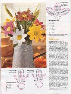 flores crochet ganchillo - AZU -- - Álbumes web de Picasa