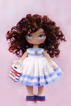 150 Best Cute Crocheted Amigurumi Patterns Ideas Pictures - Page 41 of post was discovered by kesmat maher. amigurumi for beginners; Amigurumi Tutorial, Doll Tutorial, Knitted Dolls, Crochet Dolls, Crochet Doll Pattern, Crochet Patterns, Crochet Eyes, Barbie, Sewing Toys