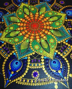 WIP ⏳- Acrylic dot mandala on canvas - 50 cm x 50 cm Mandala Design, Mandala Art, Mandala Doodle, Mandala Canvas, Mandala Painting, Mandala Pattern, Dot Art Painting, Painting Patterns, Stone Painting