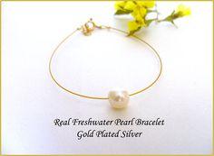 One Pearl Bracelet Real Freshwater Pearl Single Pearl
