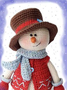 Crochet patterns Kevin the Snowman #amigurumi_snowman #crochet_toys #crochet_patterns