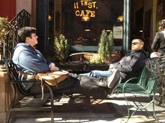 Shopfront Bench in front of 11th St. Cafe - 327 W 11th St, New York, NY - Photo: Mike Lydon
