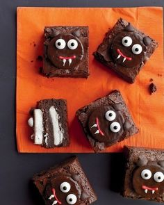 Scaredy-Cat Brownies: More cute than creepy, Martha Stewart's scaredy-cat brownies have a peppermint surprise!  Source: Martha Stewart