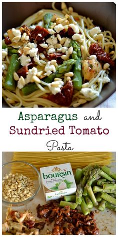Asparagus & Sun-dried Tomato Pasta. Easy 20 minute pasta dish!