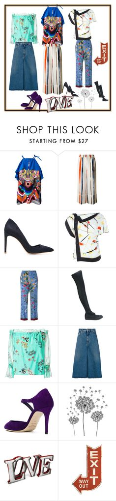 """style all the ways"" by ramakumari ❤ liked on Polyvore featuring Roberto Cavalli, Sonia Rykiel, Sarah Chofakian, Emilio Pucci, Gucci, DRKSHDW, Isolda, MM6 Maison Margiela, Jimmy Choo and jcp"