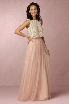 BHLDN Cleo Top & Louise Tulle Skirt in Bridesmaids Bridesmaid Dresses at BHLDN