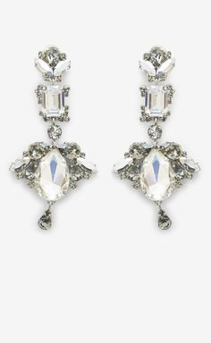 Dior Silver And Crystal Earrings