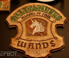 DIY Harry Potter Wand Display - Delta Phi Epsilon's Makers of fine _________ Since 1917