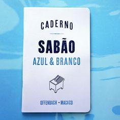 Caderno Sabão Azul & Branco http://casaruim.com/produto/caderno-sabao-azul-branco/