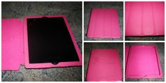Pink leather iPad case from Story Leather.