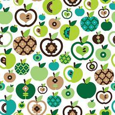 apple juice retro pattern