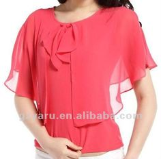 Blusa de la gasa 2013 2012 mujeres fabricante-Tallas grandes de ... Blouses For Women, Stylish Outfits, Cool Outfits, Fashion Outfits, Formal Tops, Sewing Blouses, Outfit Combinations, Blouse Vintage, Fashion Clothes
