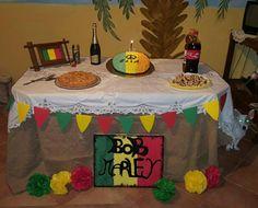 Bob Marley theme party Rasta Party, Birthday Party Themes, Birthday Cake, Bridal Shower, Baby Shower, Grad Parties, Bob Marley, Reggae, How To Make Cake