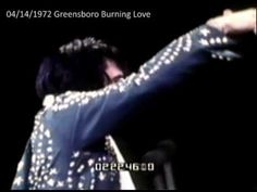 Outtake from Elvis On Tour - Burning Love - 1st time live.Filmed in Greensboro, South Carolina. April 14, 1972. They had not rehearsed this for a live performance yet. Remember the studio version is a fade out. However, the Colonel insisted Elvis add it to the show. The Sweet Inspirations are clearly caught off guard and have to improvise. It falls apart at the end, with Elvis struggling to get everybody to end together. Thanks Colonel.
