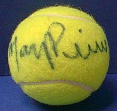 Mary Pierce Autographed Tennis Ball