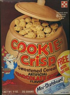 Cookie Crisp cereal retro childhood fun eighties School Memories, My Childhood Memories, Childhood Toys, Great Memories, 1980s Food, Cookie Crisp Cereal, Nostalgia, I Remember When, 80s Kids
