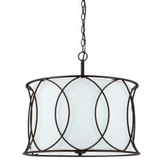 "$109 ea. 21"" diameter (use 2) - CANARM Monica 3-Light Oil Rubbed Bronze Chandelier-ICH320A03ORB20 - The Home Depot"
