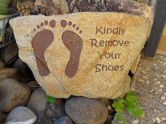 Engraved Stones,Kindly Remove Your Shoes,remove your shoes stone,remove your shoes sign, remove shoes,Christmas gifts,engraved gifts