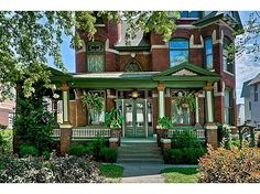 1887 Queen Anne (309 S 8th St, Council Bluffs, IA 51503) - i loveeee the exterior, and how it's furnished throughout