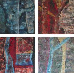 4 Jaargetijden, schilderij van Nelita Lelijveld | Abstract | Modern | Kunst
