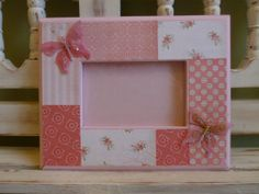 4x6 Custom Frame Shabby Chic Pink Roses Floral Flowers Garden Vintage Inspired 5x7 Butterflies Bridal Shower Mother's Day Bridesmaid Gift