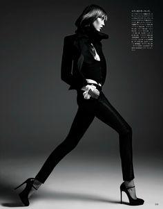 ☆ Karlie Kloss | Photography by Hedi Slimane | For Vogue Magazine Japan | June…