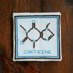 Items similar to Cute Caffeine Organic Model Cross stitch pattern on Etsy Chemistry Art, Organic Molecules, Nerd Gifts, Crossstitch, Caffeine, Cross Stitch Patterns, College, Etsy Shop, Model