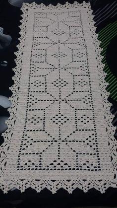 Crochet Doily Patterns, Crochet Designs, Crochet Doilies, Crochet Table Runner, Crochet Tablecloth, Crochet Adult Hat, Beautiful Gif, Filet Crochet, Table Runners