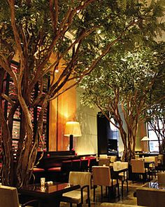 The Garden restaurant at the Four Seasons NYC....best place for breakfast