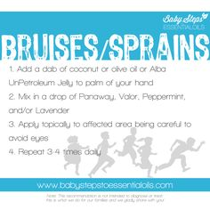 Baby Steps to Essential Oils – Bruises and Sprains with Young Living Essential Oils