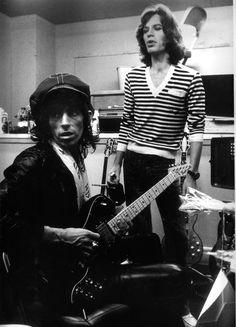 Mick Jagger and Keith Richards, 1975