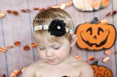 Check out this item in my Etsy shop https://www.etsy.com/listing/246977139/halloween-classic-shabby-fower-headband