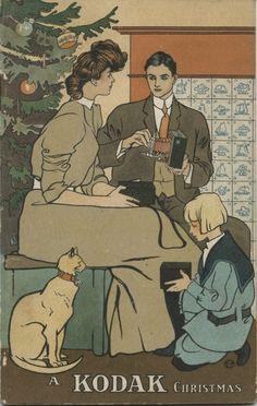 Affiche: A Kodak Christmas . (Edward Penfield. American artist. 1866-1925)