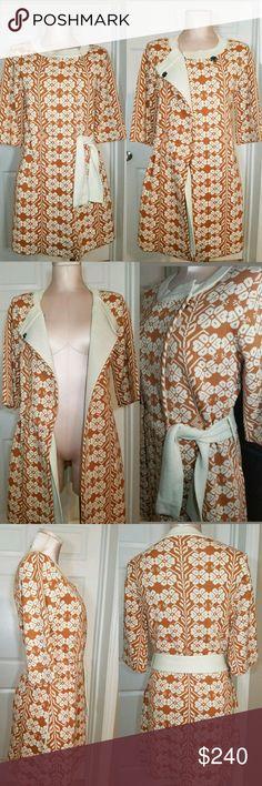 Amalialad Sweatercoat Cardigan Jacket Floral Stamp Up for sale Rare Anthropologie Amalialad Sweatercoat Sweater 3/4 sleeve Cardigan Jacket with Floral Stamp .  Size Small  ***RARE FIND*** Anthropologie Jackets & Coats Pea Coats