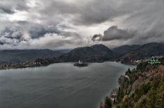 Landscape of lake of Bled