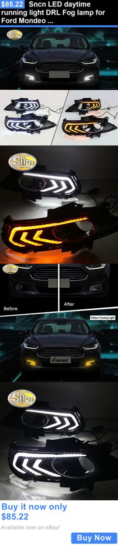 Motors Parts And Accessories: Sncn Led Daytime Running Light Drl Fog Lamp For Ford Mondeo Fusion 2013-2016 BUY IT NOW ONLY: $85.22