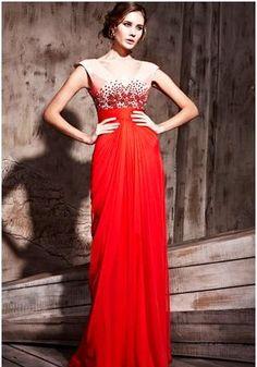 Elliotclaire London Red Beaded Dress