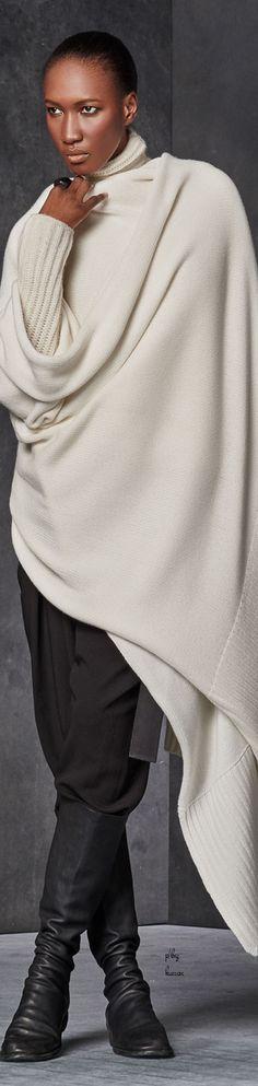 Donna Karan - Urban Zen - Oversized Blanket Scarf FW 2015