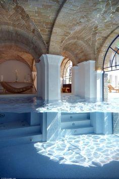Amazing indoor swimming pool - Prachtig overdekt binnenzwembad, zwembad ♥ Fonteyn