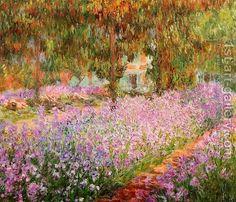 """Claude Oscar Monet (1840 - 1926)  """"Irises In Monet's Garden"""""""