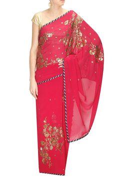 Shehla Khan Indian Inspired Fashion, Indian Fashion, One Shoulder, Shoulder Dress, Pernia Pop Up Shop, Sari, Style Inspiration, Formal Dresses, Pink