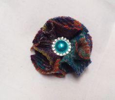 Brooch Handmade With Harris Tweed by Ladydarinefinecrafts on Etsy