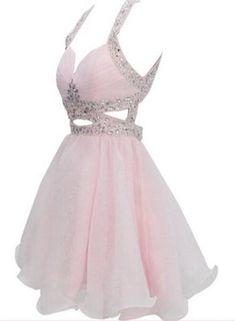 Adorable Pink Sequins Short Party Dress, Lovely Junior Prom Dresses 2019 - Source by alejandravrana - Cute Prom Dresses, Sweet 16 Dresses, Grad Dresses, Dance Dresses, Pretty Dresses, Beautiful Dresses, Evening Dresses, Formal Dresses, Junior Prom Dresses Short