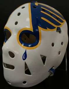Vintage Goalie Mask Discussion Page :: Vintage Mask Gallery! :: Happy Holidays: Ed Staniowski Blues Mask Ice Hockey Teams, Hockey Goalie, Hockey Players, Hockey Stuff, Hockey Season, Goalie Mask, Blue Mask, Nhl Jerseys, St Louis Blues
