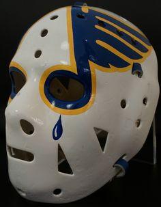 Ed Staniowski Game Used Mask - St. Louis Blues