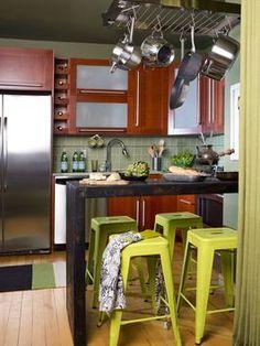 Tiny Eat-In Kitchen >> http://www.hgtv.com/kitchens/small-kitchen-makeover/index.html?soc=pinterest